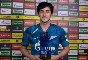 سردار آزمون: از نخستین هتتریکم در فوتبال روسیه خوشحالم