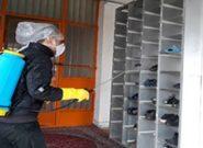 ضدعفونی مراکز توانبخشی گنبدکاووس توسط جوانان