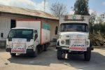 کمک خیر گنبدی برای زلزله زدگان سی سخت ارسال شد